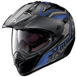 X-Lite X-551 GT Kalahari N-Com Flat Black Blue Dual Sport Helmet
