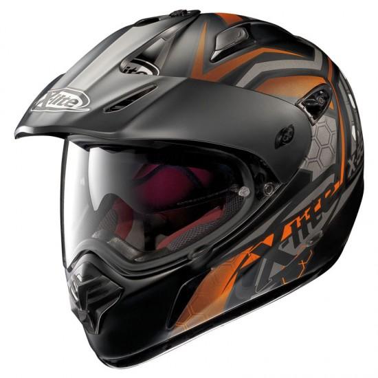 X-Lite X-551 GT Kalahari N-Com Flat Black Orange Dual Sport Helmet