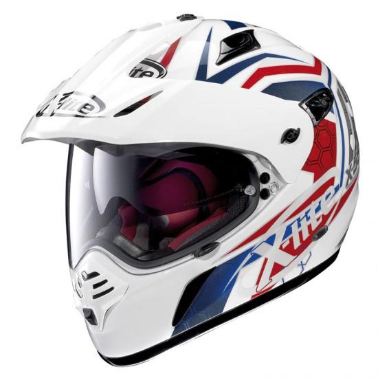 X-Lite X-551 GT Start N-Com Metal White Dual Sport Helmet