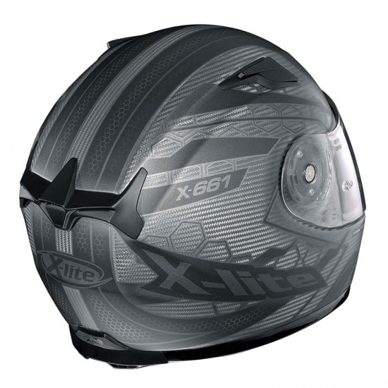 X-Lite X-661 Extreme Titantech Honeycomb N-Com Flat Titanium Full Face Helmet