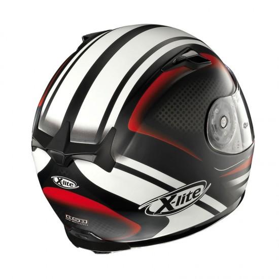 X-Lite X-661 Slipstream N-Com Flat Black Red Full Face  Helmet