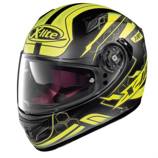 X-Lite X-661 Honeycomb N-Com Flat Black Yellow Full Face Helmet