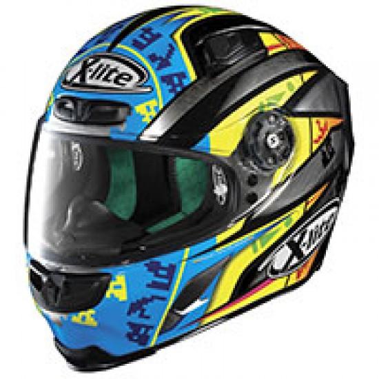 X-Lite X-803 Replica L Camier Scratched Chrome Full Face Helmet