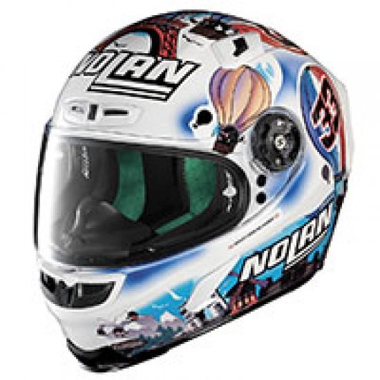 X-Lite X-803 Replica M Melandri France Metal White Full Face Helmet