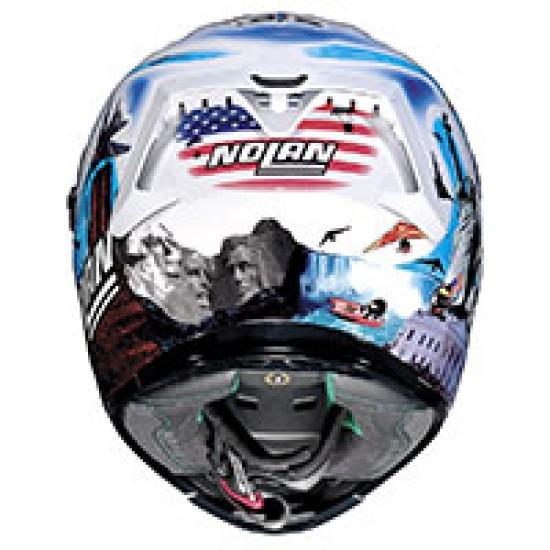 X-Lite X-803 Replica M Melandri Usa Metal White Full Face Helmet