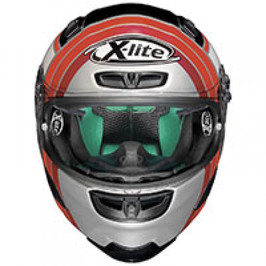X-Lite X-803 Replica M Pirro Flat Silver Full Face Helmet