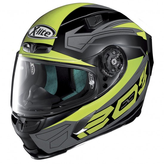 X-Lite X-803 Tester Flat Black Yellow Full Face Helmet
