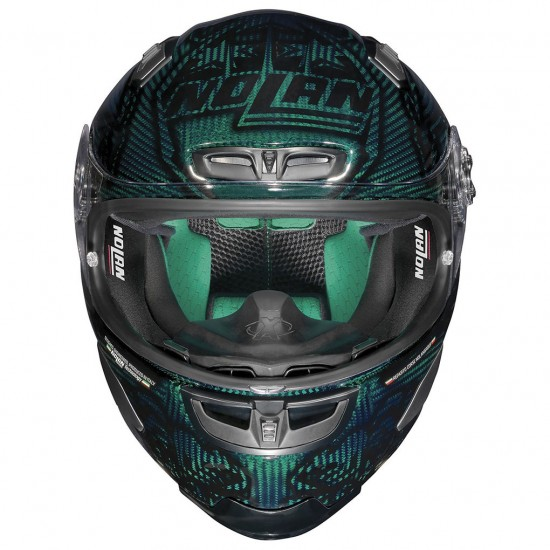 X-Lite X-803 Ultra Carbon Replica C Stoner Superhero Carbon Nuance Green Red Full Face Helmet