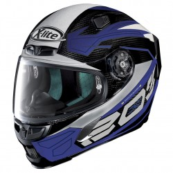 X-Lite X-803 Ultra Carbon Tester Carbon Blue White Full Face Helmet