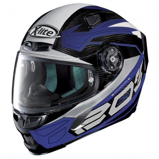X-Lite X-803 Ultra Carbon Tester Carbon Blue White Full Face Helmet