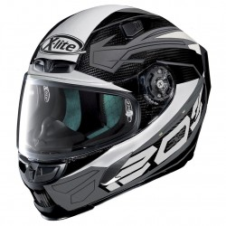 X-Lite X-803 Ultra Carbon Tester Carbon Gray White Full Face Helmet
