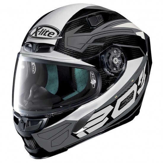 X-Lite X-803 Ultra Carbon Tester Carbon Gray White Full Face Helmet