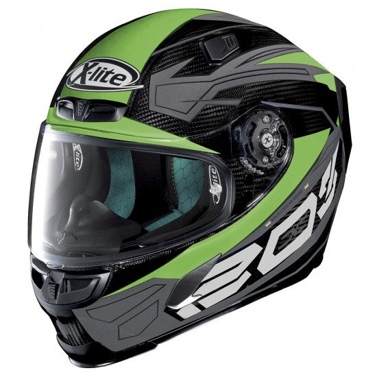 X-Lite X-803 Ultra Carbon Tester Carbon Green Full Face Helmet