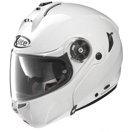 X-Lite X-1004 Elegance N-Com Metal White Modular Helmet