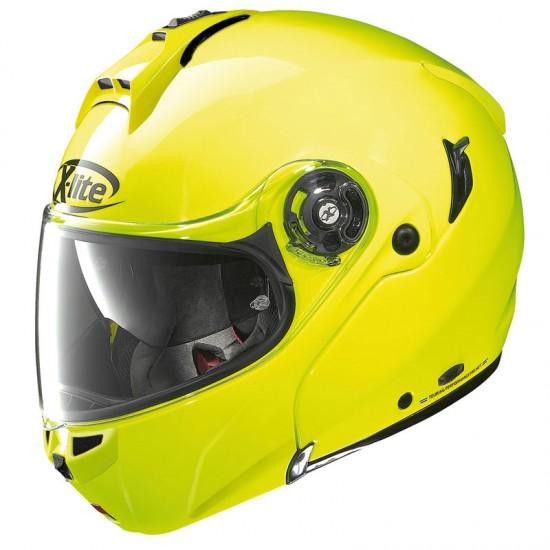 X-Lite X-1004 Hi Visibility N-Com Fluo Yellow Modular Helmet