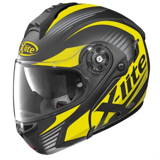 X-Lite X-1004 Nordhelle N-Com Flat Black Yellow Modular Helmet