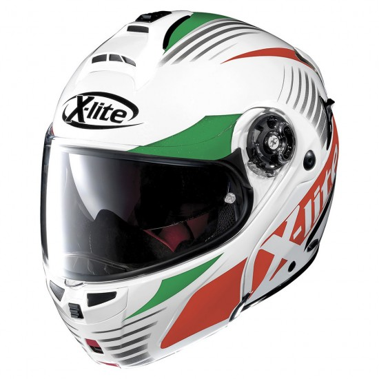 X-Lite X-1004 Nordhelle N-Com Metal White Modular Helmet