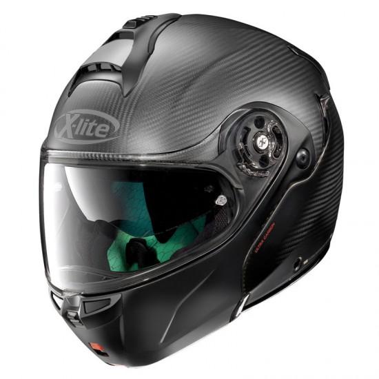 X-Lite X-1004 Ultra Carbon Dyad N-Com Carbon Chin Guard Flat Black Modular Helmet