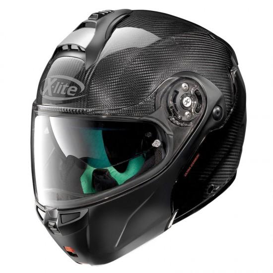 X-Lite X-1004 Ultra Carbon Dyad N-Com Carbon Flat Black Chin Guard Modular Helmet