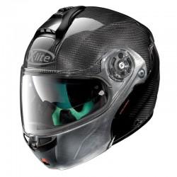 X-Lite X-1004 Ultra Carbon Dyad N-Com Carbon Scratched Chrome Chin Guard Modular Helmet