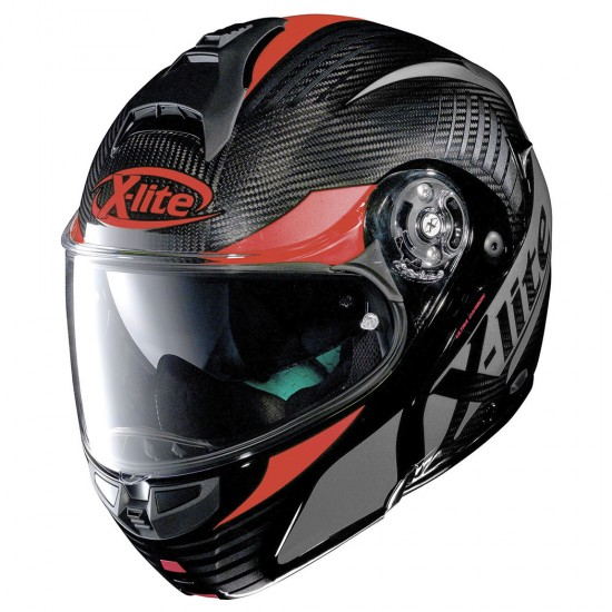 X-Lite X-1004 Ultra Carbon Nordhelle N-Com Carbon Red Modular Helmet