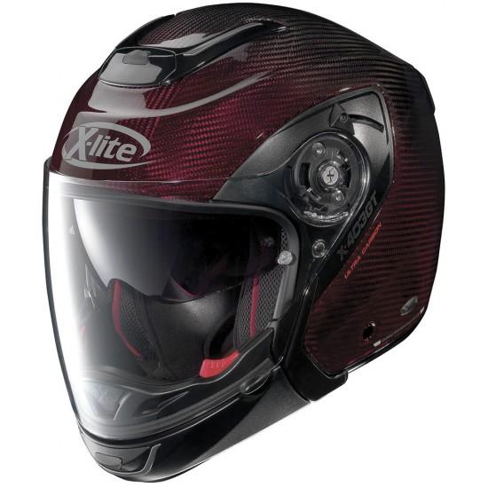 X-Lite X-403 GT Ultra Carbon Nuance N-Com Carbon Red Modular Helmet