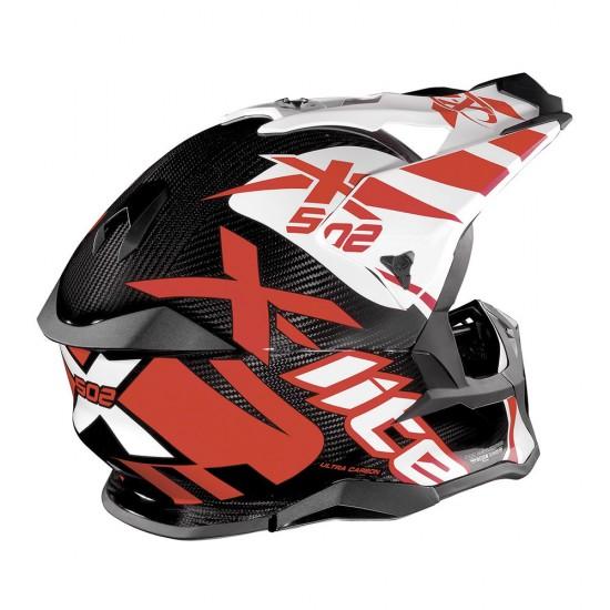 X-Lite X-502 Ultra Carbon Xtrem Carbon White Off Road Helmet
