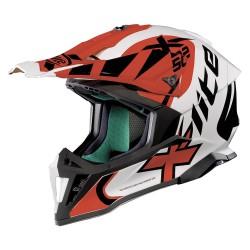 X-Lite X-502 Xtrem Metal White Red Helmet