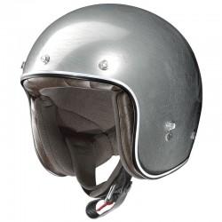 X-Lite X-201 Fresno Scratched Chrome Open Face Helmet