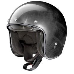 X-Lite X-201 Fresno Scratched Dark Chrome Open Face Helmet