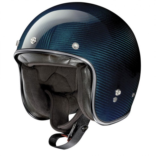 X-Lite X-201 Ultra Carbon Nuance Carbon Blue Open Face Helmet