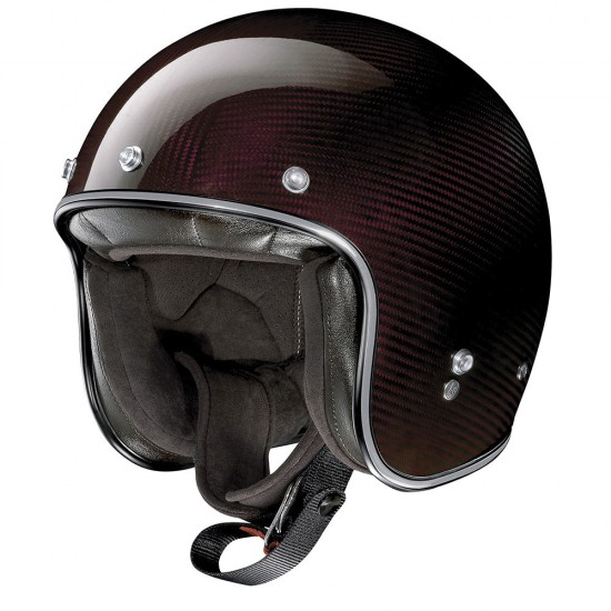 X-Lite X-201 Ultra Carbon Nuance Carbon Red Open Face Helmet