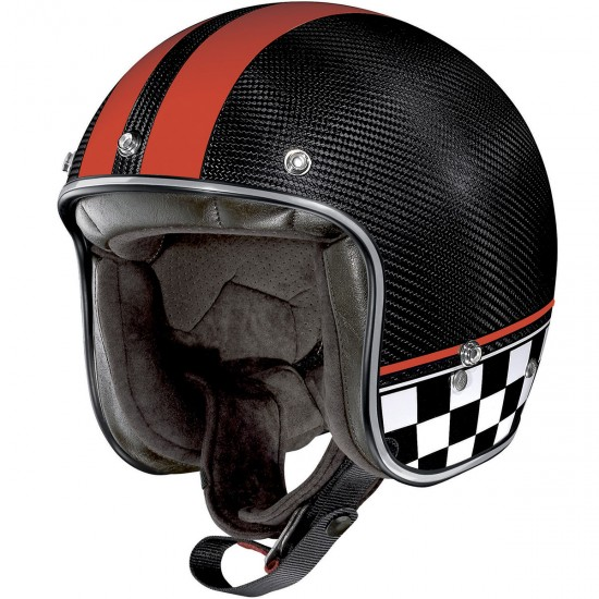 X-Lite X-201 Ultra Carbon Willow Springs Carbon Red Oepn Face Helmet