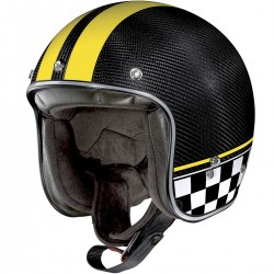 X-Lite X-201 Ultra Carbon Willow Springs Carbon Yellow Open Face Helmet