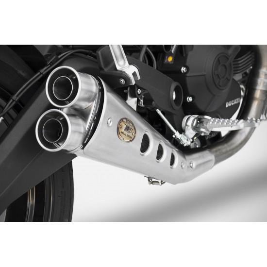 Zard Low Mounted Silencer Ducati Monster 797 MPN - ZD787SSR