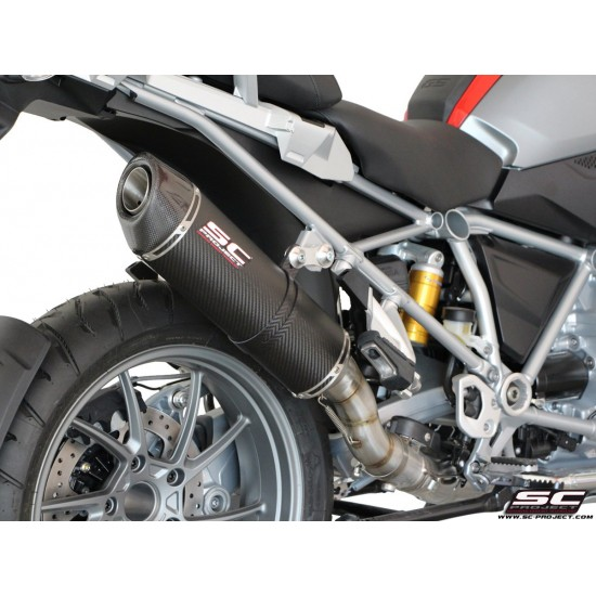 SC-Project Oval SC1 Muffler Black Brushed Stainless BMW R 1200 GS Adventure 2013-2016 MPN - B13-02O