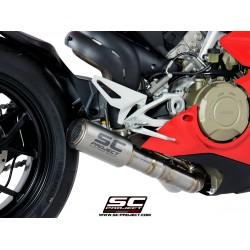 SC-Project CR-T Muffler With De-cat Link Ducati Panigale V4 MPN - D26-LT36T