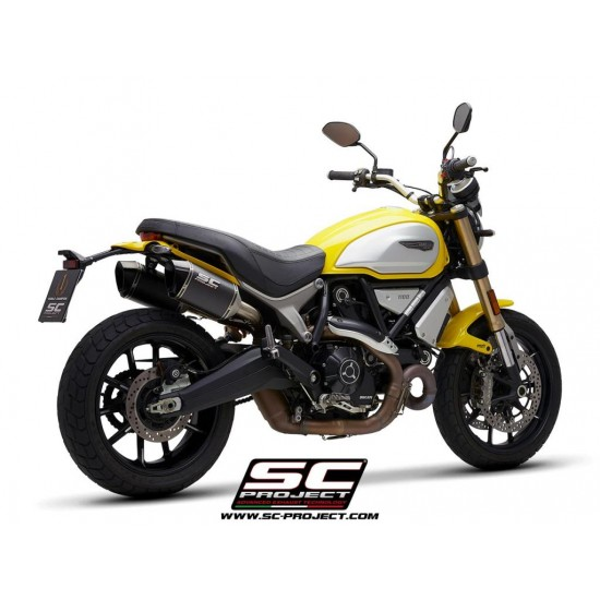 SC-Project Pair MTR Mufflers Carbon Fiber With Machined From Solid CNC End Cap Ducati Scrambler 1100 2018-2019 MPN - D29-110C