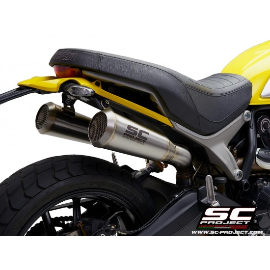 SC-Project Pair OF 70S Conical Mufflers Stainless Ducati Scrambler 1100 2018-2019 MPN - D29-42A70S