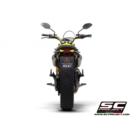 SC-Project Pair Of Racer Conical Mufflers Stainless Ducati Scrambler 1100 2018-2019 MPN - D29-47A