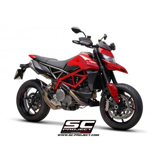 SC-Project Pair Of S1-carbon Mufflers Carbon Fiber With Carbon Fiber End Cap Ducati Hypermotard 950 2019 MPN - D31-74C