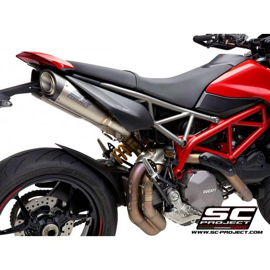 SC-Project Pair OF S1 Mufflers Titanium With Carbon Fiber End Cap Ducati Hypermotard 950 2019 MPN - D31-41T