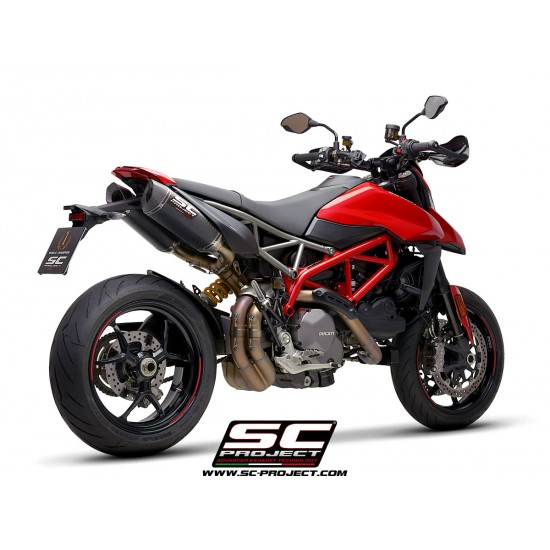 SC-Project Pair Of SC1-M Mufflers Carbon Fiber With Carbon Fiber End Cap Ducati Hypermotard 950 2019 MPN - D31-115C