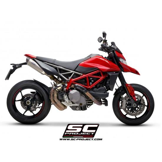 SC-Project Pair Of SC1-M Mufflers Titanium With Carbon Fiber End Cap Ducati Hypermotard 950 2019 MPN - D31-115T