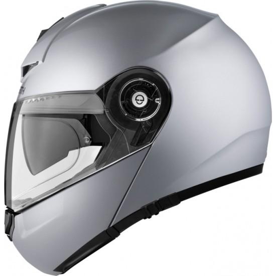 Schuberth C3 Pro Glossy Silver Modular Helmet