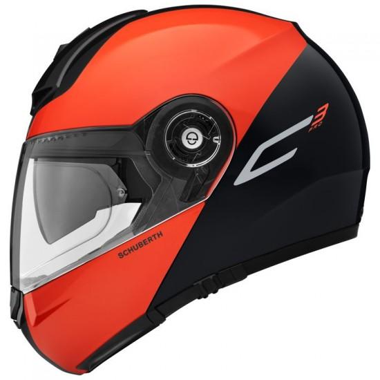 Schuberth C3 Pro Split Orange Modular Helmet