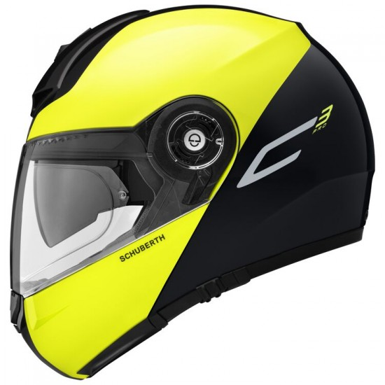 Schuberth C3 Pro Split Yellow Modular Helmet