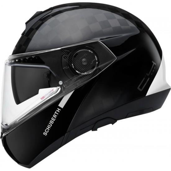 Schuberth C4 Pro Carbon Fusion White Modular Helmet