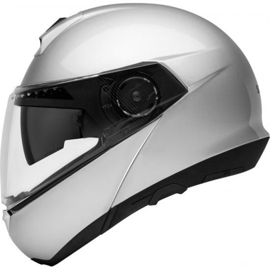 Schuberth C4 Basic Glossy Silver Modular Helmet