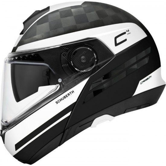 Schuberth C4 Pro Carbon Tempest White Modular helmet